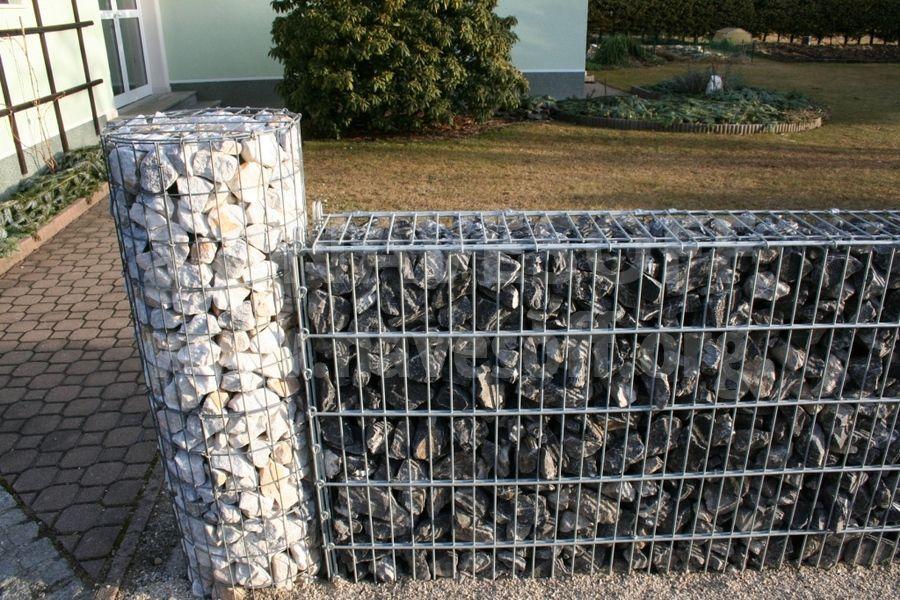 Забор из сетки с камнями своими руками